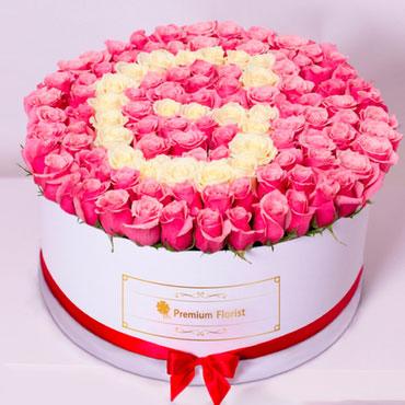 Caja de Rosas Letra Personalizada!