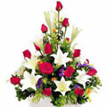 Roses and Lilies Basket, -Mexico