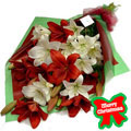 Christmas Lilies Bouquet, -Mexico