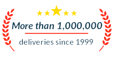 More than 1 millon flower deliveries.